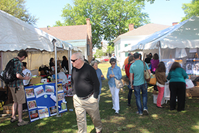 Fans peruse the books and wares presented at the Alabama Book Festival in Montgomery on April 20th
