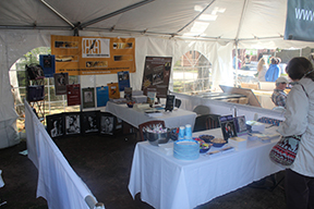 The Ardent Writer Press and Huntsville Literary Association's tent at the Alabama Book Festival on Saturday, April 20 in Montgomery.