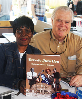 Carol Ealons, author of Tuxedo Junction, with publisher Steve Gierhart at the 2013 Alabama Book Festival