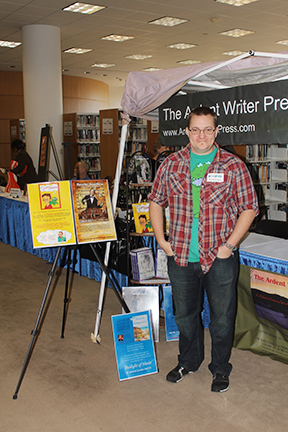 Mike Wines, author of the humorous account of a Brooklyn boy's summer in Alabama, attends Author Expo 2014 at the Central Birmingham Library